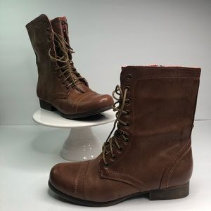 New Madden Girl Gamer Lace-Up Combat Boots #8